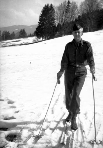 Sigurd skiing in the Bavarian Alps